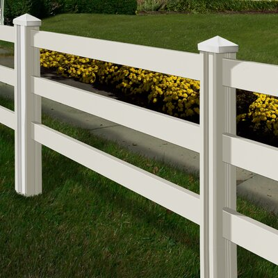 Traditional 4' x 7' Ranch Rail Fence