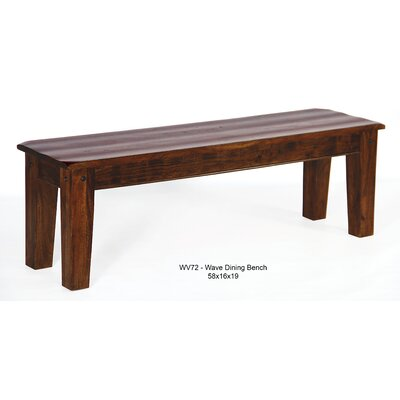 Wave Wood Bench