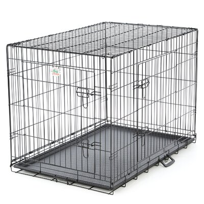 "2 Door Folding Pet Crate Size: Medium (27.5"" H x 24.5"" W x 36"" L)"