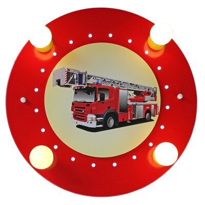 Elobra Deckenleuchte 4-flammig Feuerwehr