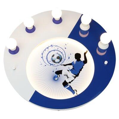 Elobra Aufbauleuchte 5-flammig Fußball