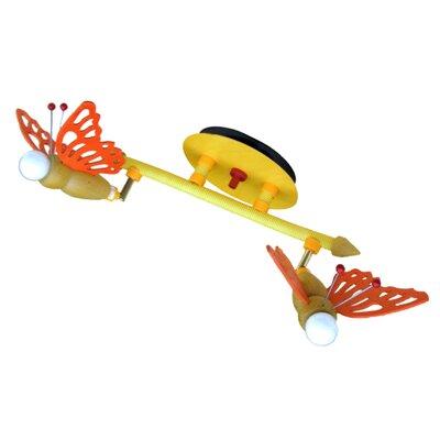 Elobra Volles Schienenbeleuchtungsset 2-flammig Schmetterling