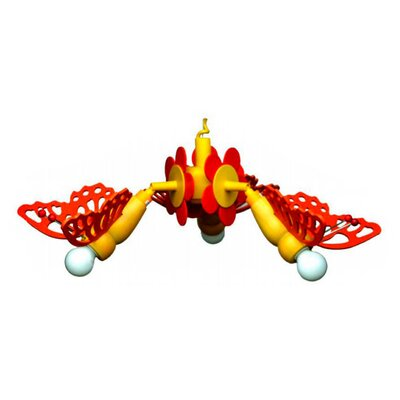 Elobra Geometrische Pendelleuchte 3-flammig Schmetterling