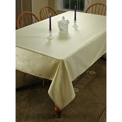 """Hotel Oblong / Rectangle Tablecloth Color: Gold, Size: 100"""" W x 60"""" L"""