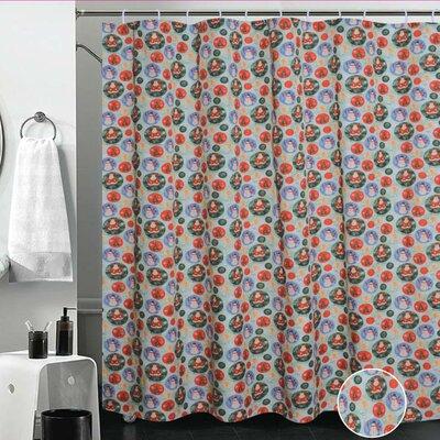 European Christmas Santa Claus Design Printed Shower Curtain
