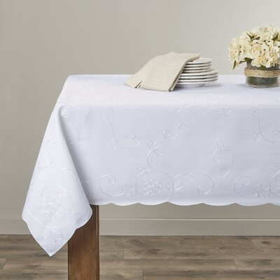 Violet Linen Dublin Embroidered Tablecloth