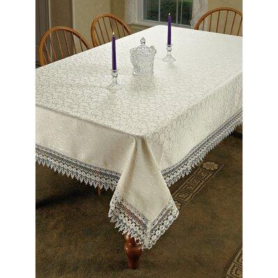"Cahill Vintage Lace Tablecloth Color: White, Size: 140"" W x 70"" L"