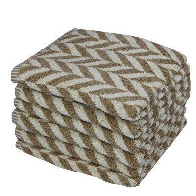 Eller Majestic 100% Cotton Hand Towel Color: Brown