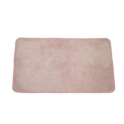 Microfiber Absorbing Bath Mat Bathroom Rug Size: Runner, Color: Pink