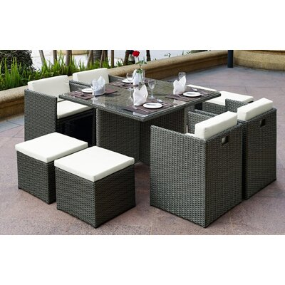 Aristotle 9 Piece Dining Set with Cushions