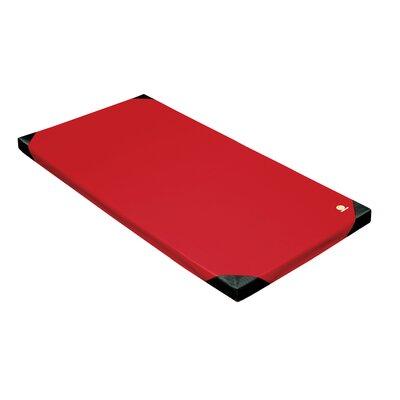 "Reinforced 3"" Landing Mat Color: Red, Size: 3"" H x 48"" W x 24"" D"