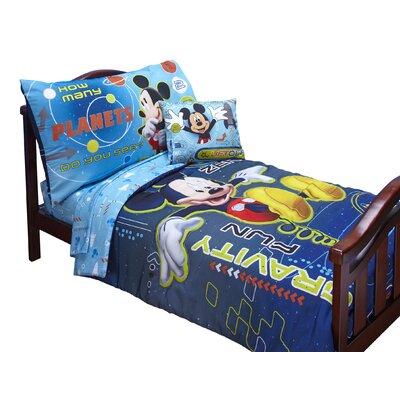 Disney Baby Bedding Mickey Mouse Space Adventures 4 Piece Toddler Bedding Set