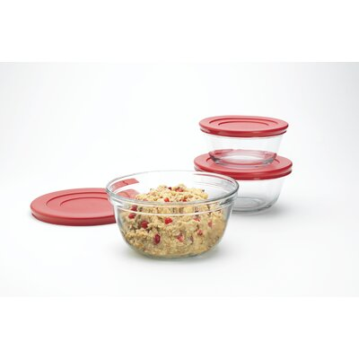 Glass Mixing Bowl with Lid (Set of 2)