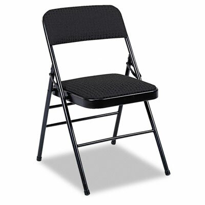 Fabric Padded Seat/Back Low-Back Folding Office Chair Finish: Black