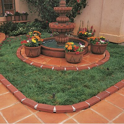 1.6 in. x 8 in. Let's Edge It! Decorative Plastic Brick Edging Without Solar Lights