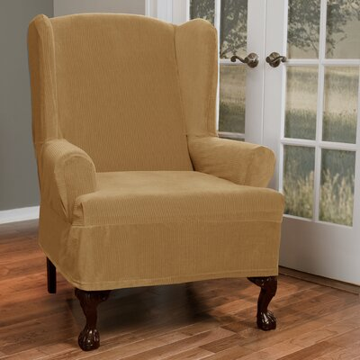 T-Cushion Wing Slipcover Upholstery: Gold