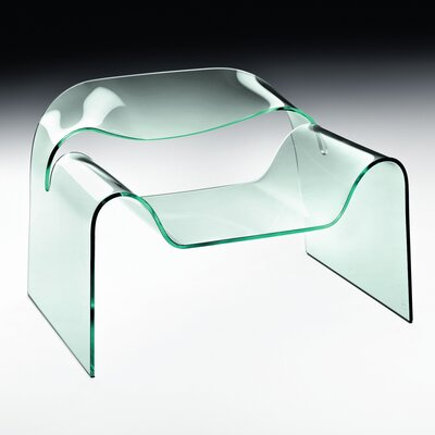 FIAM ITALIA Ghost Curved Glass Monolithic Side Chair
