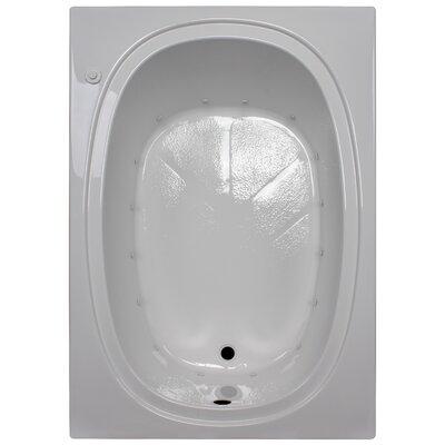 "60"" x 42"" Massage Soaking Tub Finish: White, Drain Location: Right"
