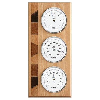 """Fischer Barometer 35cm Wetterstation """"Vision"""" in Buche natur"""