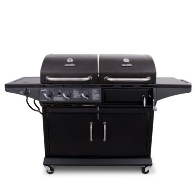 CharBroil 2-in-1 Charcoal and 3-Burner Gas Deluxe Combo ...