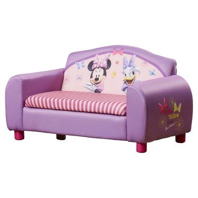 Delta Children Disney Minnie Mouse Kids Sofa with Storage Compartment