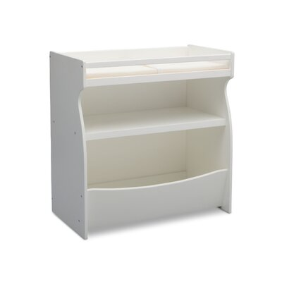 2-in-1 Changing Table and Storage Unit by Delta Color: Bianca