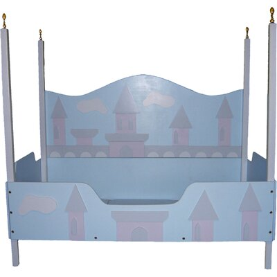 Just Kids Stuff Princess Castle Toddler Canopy Bed