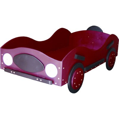 New Style- Race Toddler Car Bed Color: Red
