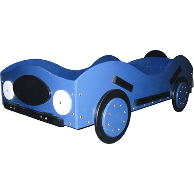 New Style- Race Toddler Car Bed Color: Yellow