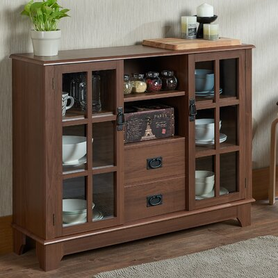 Dubbs 2 Drawer 2 Door Accent Cabinet Color: Walnut