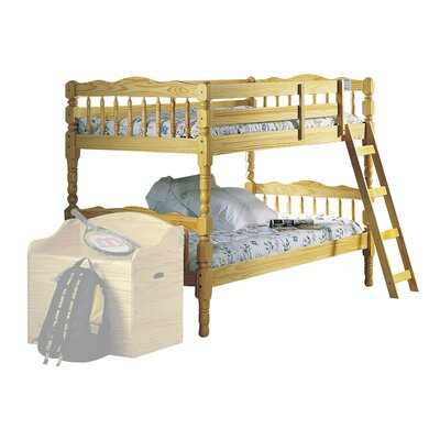 Homestead Twin Over Twin Bunk Bed Color: Natural, Size: Twin