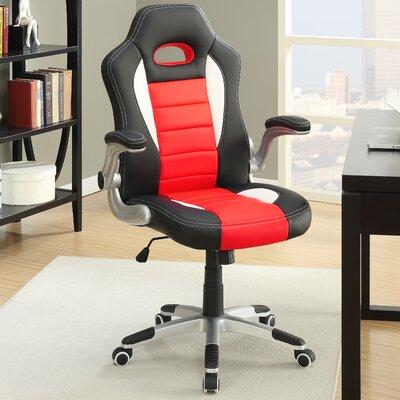 Nolen Black and Red Desk Chair