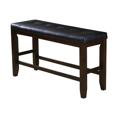 Stanley Upholstered Bench Color: Espresso