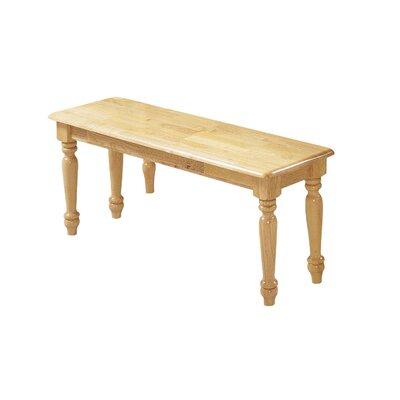 Caldina Wood Bench Upholstery: Natural