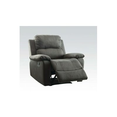 Bina Manual Wall Hugger Recliner Upholstery: Charcoal