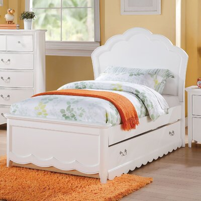 Scalf Panel Bed Bed Frame Color: White, Size: Twin