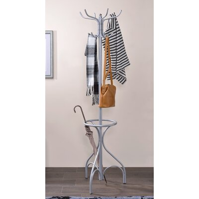 Brummett Coat Rack Color: Silver