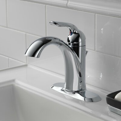 Lahara Single hole Bathroom Faucet with Drain Assembly and Diamond Seal Technology Finish: Chrome