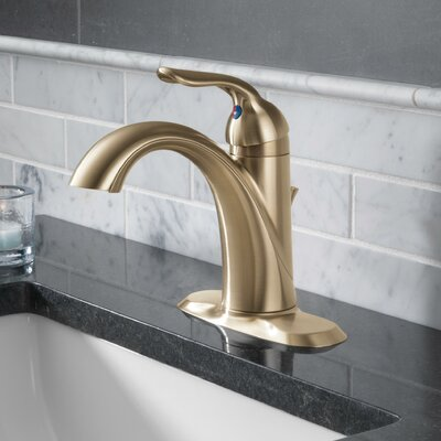 Lahara Single hole Bathroom Faucet with Drain Assembly and Diamond Seal Technology Finish: Brilliance Champagne Bronze