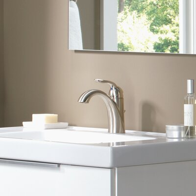 Lahara Single hole Bathroom Faucet with Drain Assembly and Diamond Seal Technology Finish: Brilliance Stainless