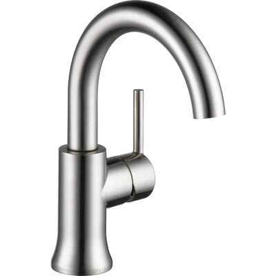 Trinsic Bathroom Single hole Bathroom Faucet with Drain Assembly and Diamond Seal Technology Finish: Stainless