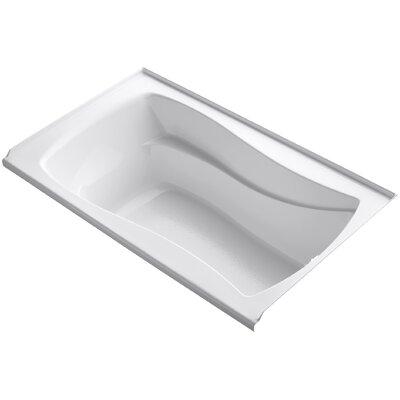 "Mariposa 60"" x 36"" Soaking Bathtub Finish: White"