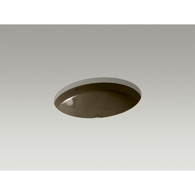 Canvas Metal Oval Undermount Bathroom Sink with Overflow Sink Finish: Black 'n Tan
