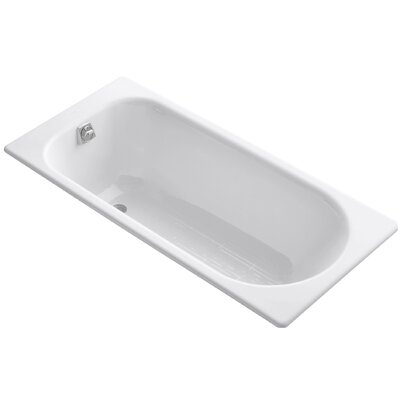 "Soissons 59"" x 27.5"" Drop-in Bathtub Finish: White"