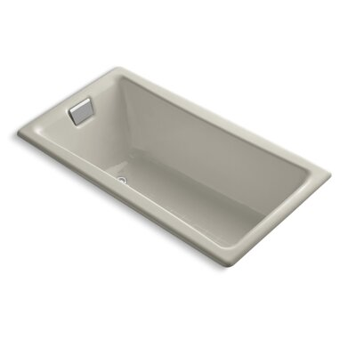 "Tea for Two for Two 60"" x 32"" Soaking Bathtub Finish: Sandbar"