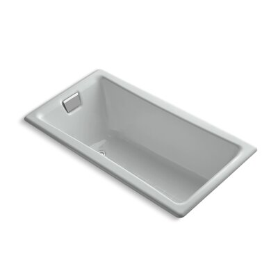 """Tea for Two for Two 60"""" x 32"""" Soaking Bathtub Finish: Ice Grey"""