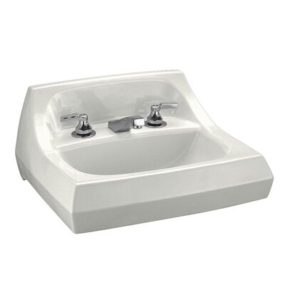 """Kingston Ceramic 22"""" Wall Mount Bathroom Sink with Overflow Sink Finish: White"""