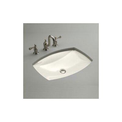 Kelston Ceramic Rectangular Undermount Bathroom Sink with Overflow Sink Finish: Biscuit