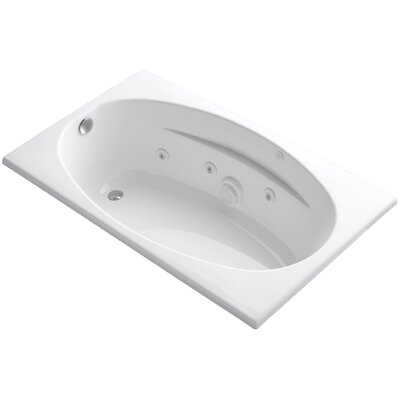"Proflex 60"" x 36"" Whirlpool Bathtub Finish: White"