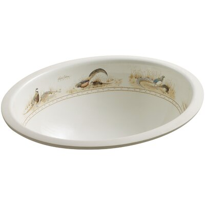 Caxton Ceramic Oval Undermount Bathroom Sink